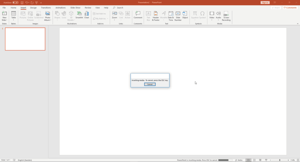 Embed: PowerPoint Video