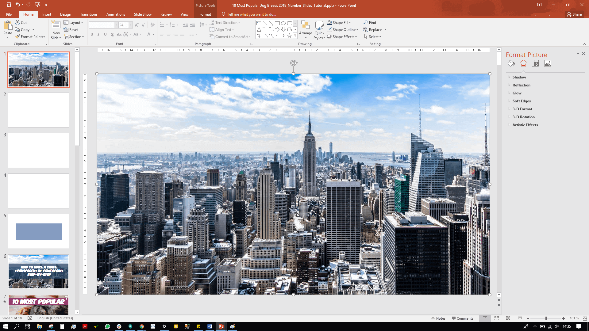 Image of New York City used as the background image - yourslidebuddy.com