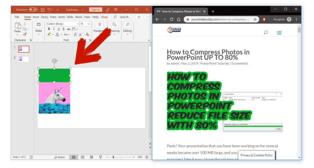 eydropper external in powerpoint