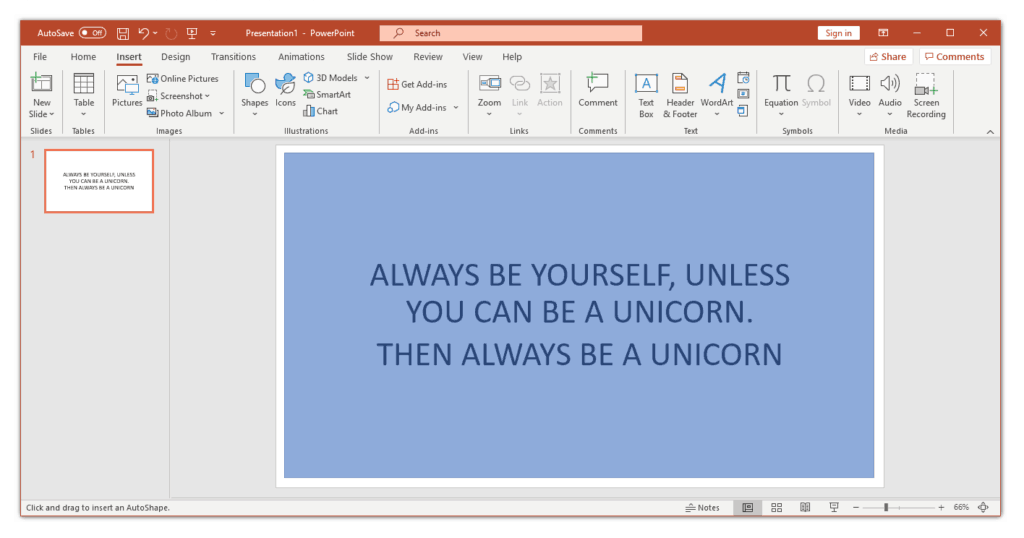 Use a shape as a border in powerpoint
