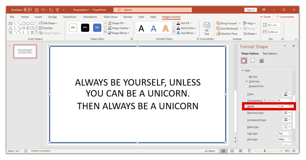 how to make a border in powerpoint