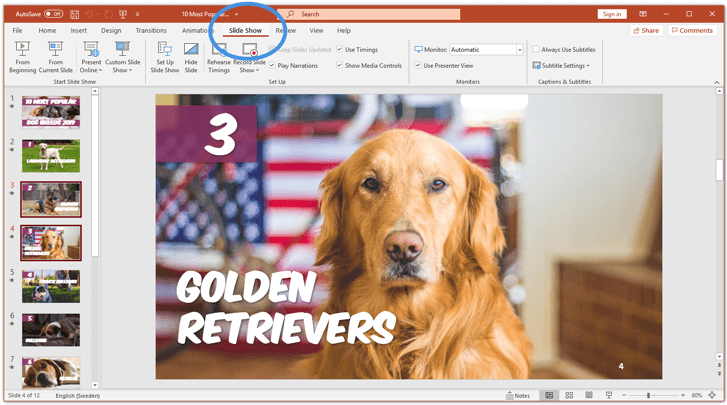 unhide a slide in powerpoint quick method