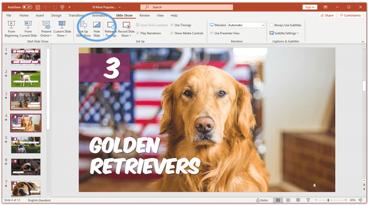 unhide a slide in powerpoint